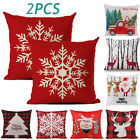 """2X Hot Merry Christmas Xmas Gift Designed Throw Pillow Case Cover Cushion 18×18"""" image"""