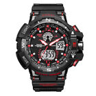 Men's Date Sport Digital Luminous Alarm Chrono Waterproof Analog Wrist Watch US image