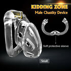 KIDDING ZONE New Openable Rings Design Male Chastity Belt Device Vent Hole Cage
