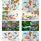 Full Drill Koi Fishes 5D DIY Diamond Painting Wall Decor Kits Plus Size 80X40 cm $18.99 USD on eBay