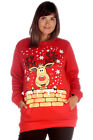 New Womens Plus Size Sweatshirt Ladies Reindeer Rudolph Print Christmas Warm Top