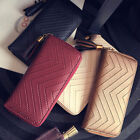 Women Faux Leather Long Wallet Card Holder Tassel Handbag Purse Novelty