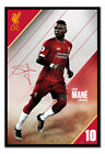 Liverpool FC Sadio Mane 2019 -2020 Seaon Poster FRAMED CORK PIN BOARD With Pins