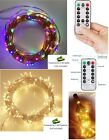LED Fairy String Christmas Lights Battery Operated With 8 Modes Remote Control