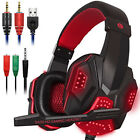 3.5mm Gaming Headset Stereo Surround USB Headphone Wired Mic For Laptop PC/PS4
