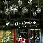 Christmas Window Stickers Elk Santa Claus Wall Decal Xmas Home Decoration Au