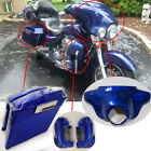 Blue Front Cowl Batwing Extended Saddlebags Lower Vented Leg Fairing For Harley $303.58 USD on eBay