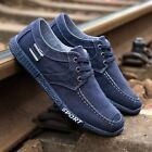 Mens Canvas Shoes Casual Loafers Sport Shose Lace up Walking Sneakers Breathable