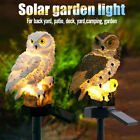 Owl Solar Powered Garden Light LED Outdoor Ornament Lawn Waterproof Novelty Lamp