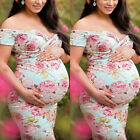 Women Off Shoulder Floral Maternity Maxi Dresses Pregnant Photography Party Prom