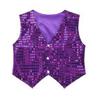 US Kids Sequined Vest Waistcoat Dance Party Shirt Jazz Show Costume Boys Girls