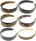 French Fashion Headband Wide Band Hair Accessory Animal Print New Made in France