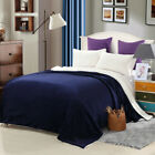 Reversible Super Soft Lamb Fluff Throw Warm Blanket Washable Queen Size 7 Colors