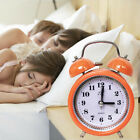 Loud Alarm Clock Quartz Analog Twin Bell Retro Non-ticking Silent Clock