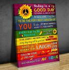 Sunflower Peace Hippie Today Is A Good Day To Have A Great Day Poster No Frame