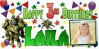 Large personalised Kids birthday banner photo name age first 1st 2nd 3rd 4th 5th