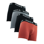 Reebok Men's Cotton Boxer Briefs 4-Pack
