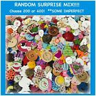 200, 400 Or 600 Random Mix Some Imperfect Buttons Assorted Big Lot Mash