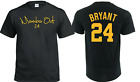 Kobe Bryant Shirt GOAT Black Mamba Los Angeles Basketball 24 8 image