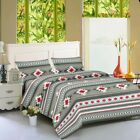 "Bed Sheets 4 pieces  Southwest Aztec Tribal Set Soft Microfiber 16"" Deep Pockets image"