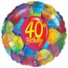 "Happy 40th Birthday Milestone FORTY 18"" Foil Mylar Party Balloon Decorations"