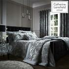 Crushed Velvet Silver Duvet Set Reversible Bedding Spread Catherine Lansfield