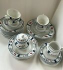Adams Lancaster English Ironstone China one 5 Pce Place Setting, 7 BB, 3 saucers
