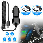 FAST Rapid Car Charger Type C Micro USB Charging For Android Samsung Cell Phone