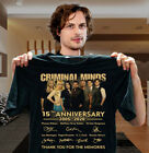 Criminal Minds 15th Anniversary 2005-2020 Signature Thank You Men Black Tshir...
