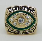 1968 NEW YORK JETS Super Bowl Championship Ring 18k Gold Plated Size 11 *USA*