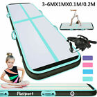 10cm/20cm 20/16/13/10ft Inflatable Air Track Gymnastics Tumbling Sport Mat +Pump image