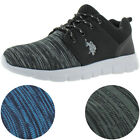 U.S. Polo Assn. Stabelizer Men's Knit Low Top Lace-Up Casual Sneakers Shoes <br/> AUTHORIZED RETAILER Faux Leather Details $40 MSRP
