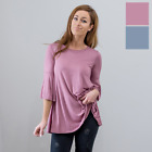 Women's Tunics Ruffle Sleeve Casual Tops Blouses Solid Spring Fashion