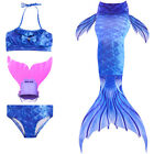 Kyпить Kids Girl Swimmable Mermaid Tail Bikini Swimwear Sea-maid Swimsuit Swim Costume на еВаy.соm