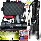 High Power 900000Lumens XHP50 Zoom Flashlight LED Rechargeable Torch Headlamp US