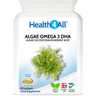 Health4All Algae Oil Omega 3 DHA 500mg Softgels | STRONG DOSE VEGAN OMEGA-3 DHA