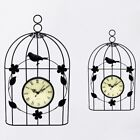Bird Cage Wall Clock Vintage Antique Style Decor Hanging E6G9