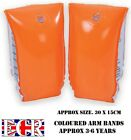 BRAND NEW INFLATABLE GARDEN POOL ORANGE SWIM ARM BANDS 3 - 6 years
