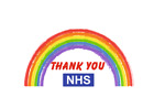 Rainbow Thank You Nhs Sticker Stay Home Save Life Vinyl Window Wall Stickers