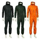 Unisex waterproof One-piece Work Hooded Coveralls Overall Jumpsuit Boilersuit MN