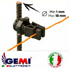 Electric Fencing insulators for metal posts for electric fences Gemi Elettronica