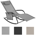 Sun Lounger Rocking Chair With Headrest And Side Pocket Max. Load Capacity 150kg