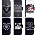 PIN-1 Oakland Raiders Phone Wallet Flip Case Cover for LG $13.49 USD on eBay