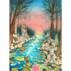 Inari Garden by Rachel Walker Japanese Watercolor Canvas Art Print Girls & Boys