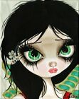 Gothic Fairy No 3 by Dottie Gleason Girl Canvas or Paper Art Print for Framing
