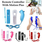 For Nintendo Wii U Wireless Remote Built-in Motion Plus Controller+Nunchuck+Case