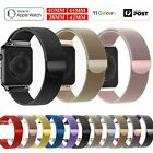 For Apple Watch Series 6 5 4 3 2 1 Se Stainless Steel Milanese Strap Band 40 44