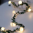 10/20/40 Leds Rose Flower Led Fairy String Lights Garland Home Party Decor Uk
