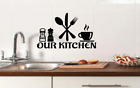 Our Kitchen Wall Art Sticker Decal Stickers Love Vinyl Diy Home Decor Tea