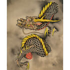 Dragon in Hue by Clark North Asian Tattoo Fine Art Print Poster for Framing